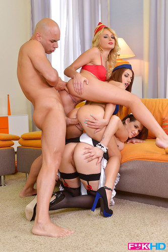 FakeInHD - Cinthia Doll, Ivana Sugar and Hannah Sweet - Tower Of Tush 1080p WebRip (2014)