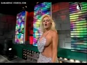 Horny Luciana Salazar big breasts tease on live TV