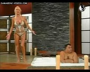 Foamy bikini blonde