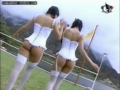 twin sisters hot asses in erotic lingerie